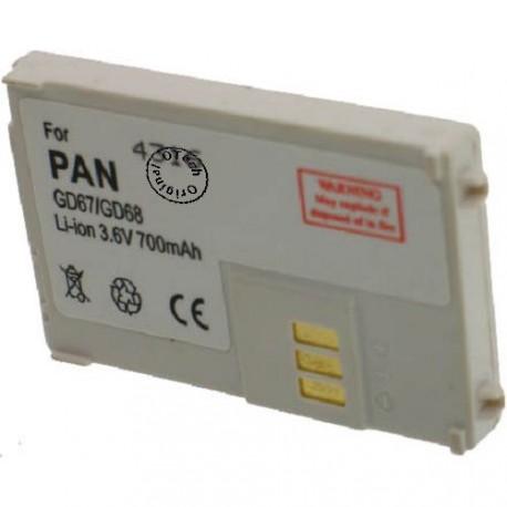 Batterie pour PANASONIC GD67 / 68 3.6V Li-Ion 700mAh