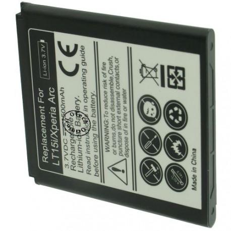 Batterie pour SONY LT15i / Xperia ARC / BA750 3.7V Li-Ion 1200mAh