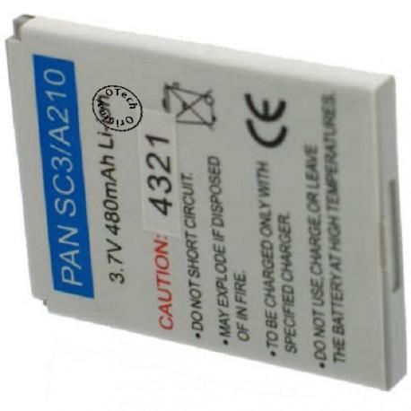 Batterie pour PANASONIC SC3 / A210 3.7V Li-Ion 500mAh
