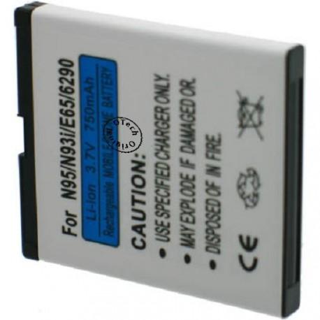 Batterie pour NOKIA N95 / N93 / E65 3.7V Li-Ion 1100mAh