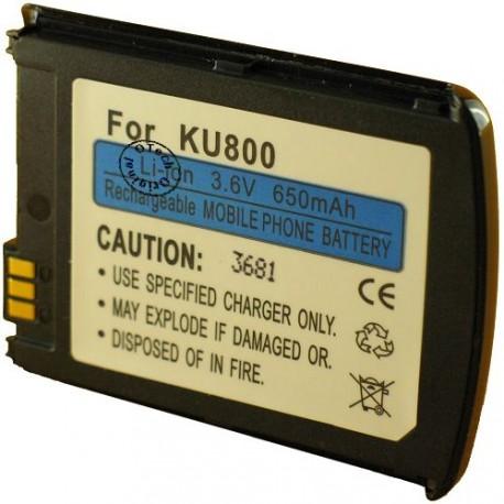 Batterie pour LG KU800 black 3.6V Li-Ion 650mAh