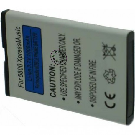 Batterie pour BL-5J 3.7V Li-Ion 1100mAh