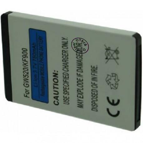 Batterie pour LG KF900 3.7V Li-Ion 700 / 900mAh