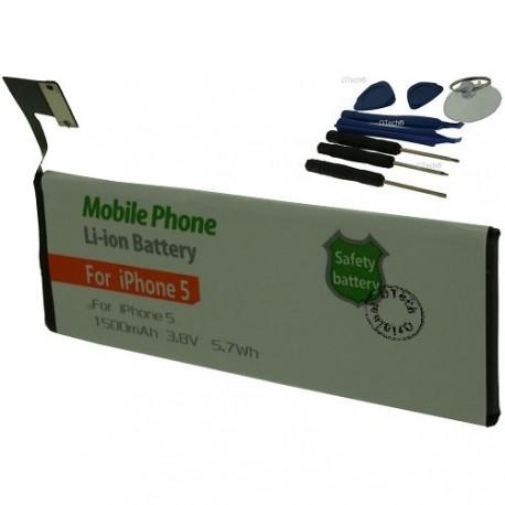 Batterie pour iPhone 5 616-0610 3.8V Li-Ion 1500mAh avec outils