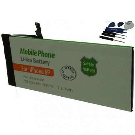 Batterie pour iPhone 6P 3.7V Li-Ion 2915mAh avec 8 outils
