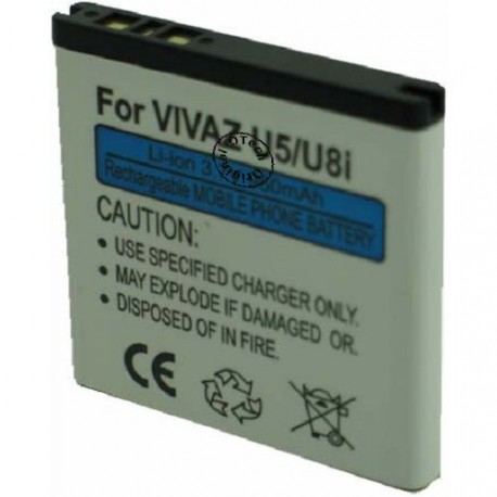 Batterie pour SONY U5I 3.7V Li-Ion 1200mAh