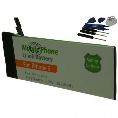 Batterie pour iPhone 6 / 616-0806 3.7V Li-Ion 1810mAh avec 8 outils