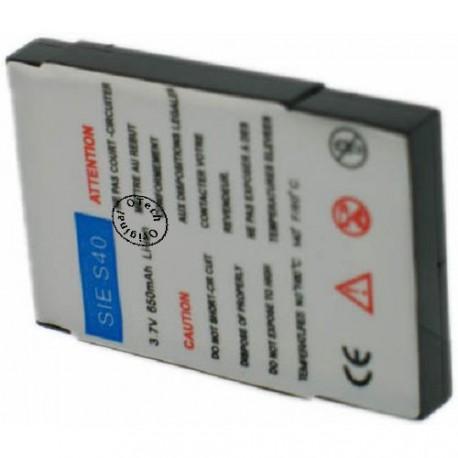 Batterie pour SIEMENS S40 avec CI 3.7V Li-Ion 600mAh