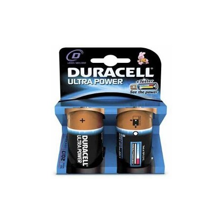 2 Piles LR20 D 1.5V ULTRA POWER DURACELL