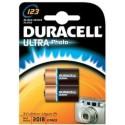 2 Piles photo CR123 3V DURACELL Ultra Photo