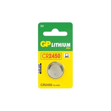 Pile bouton CR2450 Lithium GP