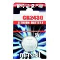 Pile bouton CR2430 Lithium 3V MAXELL