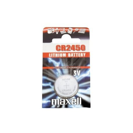 Pile bouton CR2450 Lithium 3V MAXELL