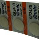 Pile Vinnic CR2430 3V Lithium