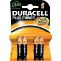 4 Piles AAA LR03 Alcaline 1.5V DURACELL Plus Power