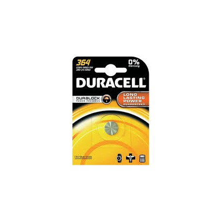 Pile SR60 364 Oxyde d'argent equiv AG1 DURACELL