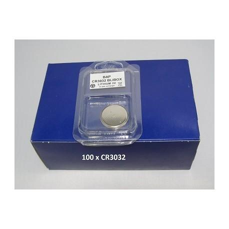 Boite de 100 piles boutons CR3032 3V Lithium PANASONIC