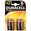 Piles AA - LR6 - ALCALINE par 4 - 1.5V - DURACELL PLUS