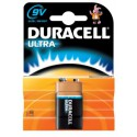 Pile carr&eacute 6LR61 ALCALINE 9V DURACELL ULTRA par 1