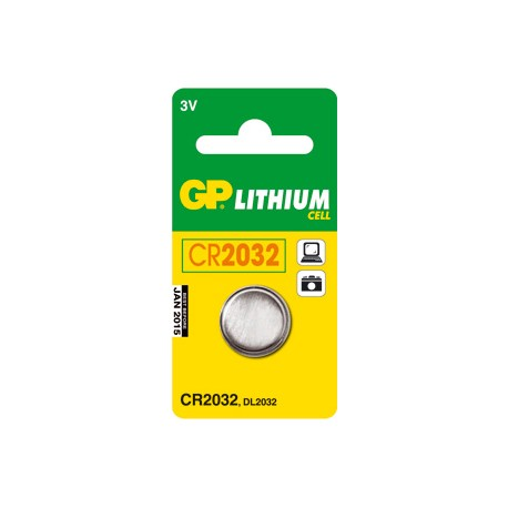 Pile bouton CR2032 Lithium GP