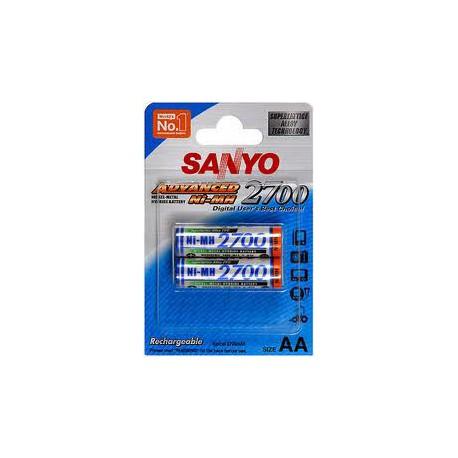 Pile rechargeable 2700 mAh- AA - NiMH par 2 - SANYO