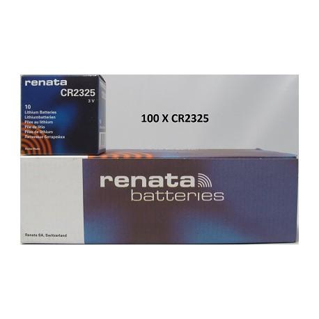 Boite de 100 piles boutons CR2325 3V Lithium RENATA