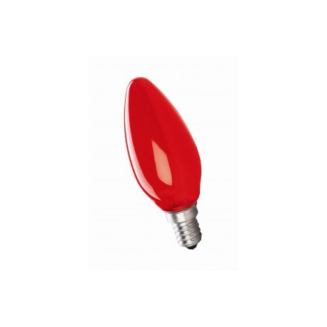 Ampoule Incandescence Flamme E14 25W Rouge