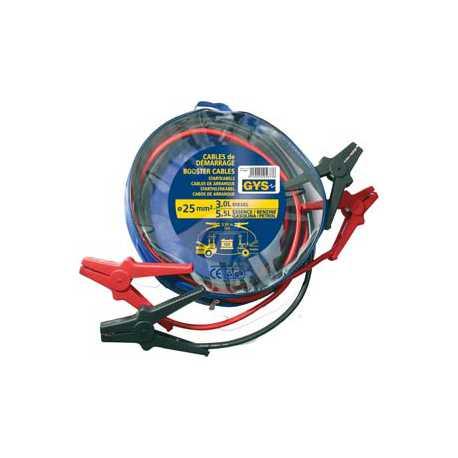 Câble de démarrage PRO GYS 2x25mm2 500A 3.5m