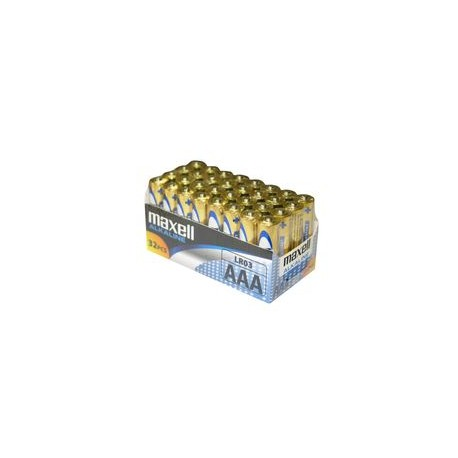 32 Piles AAA LR03 Alcaline MAXELL
