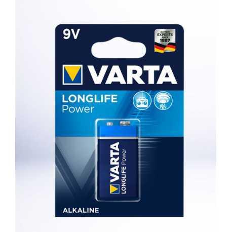 Pile 9V 6LR61 Alcaline VARTA Long Life power High Energy