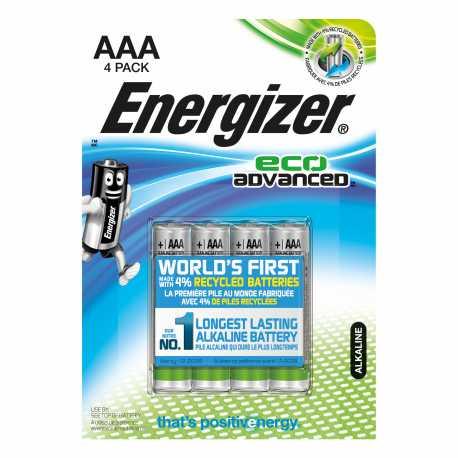 4 Piles AAA ENERGIZER Advanced Alcaline 1,5V