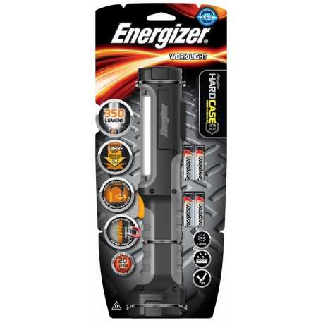 Balladeuse HardCase Pro Aimanté Energizer 350lm avec 4xAA