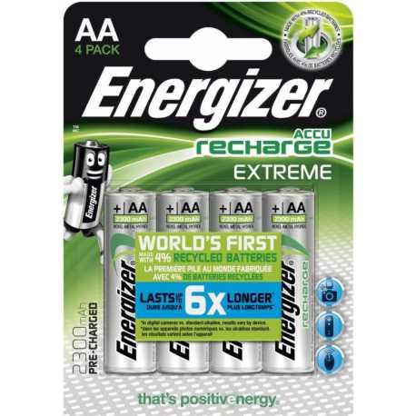 4 Accus AA Energizer 1,5V 2300mAh