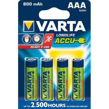 4 Accus VARTA AAA 1,2V 800mAh NiMH