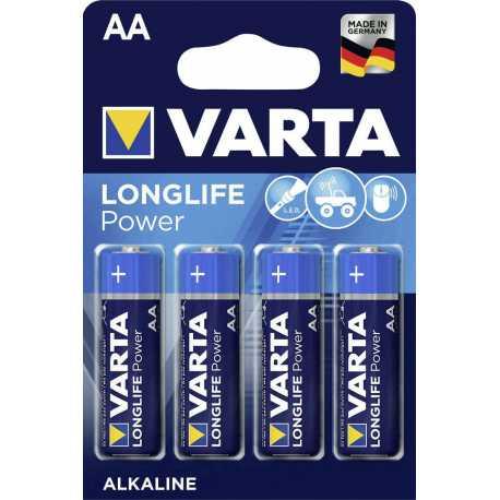 4 Piles AA LR6 VARTA Long Life Alcaline 1,5V