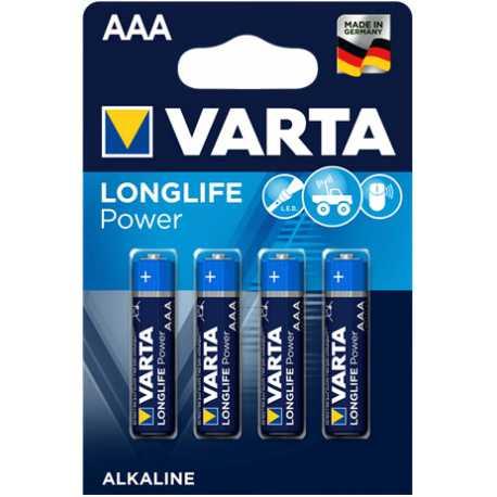 4 Piles AAA LR03 VARTA Long Life Alcaline 1,5V