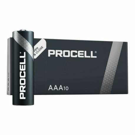 Boite de 10 piles AAA LR03 Alcaline DURACELL Industrial Procell