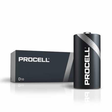 Boite de 10 piles D LR20 Alcaline DURACELL Industrial Procell