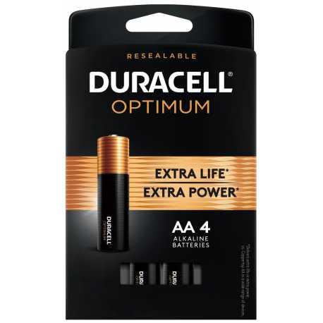 4 Piles AA LR06 1.5V Alcaline DURACELL OPTIMUM