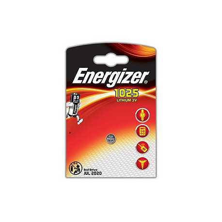 Pile bouton CR1025 Energizer 3V Lithium