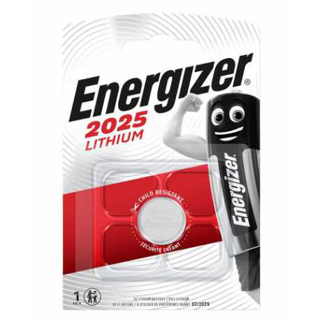 Pile bouton CR2025 Energizer 3V Lithium