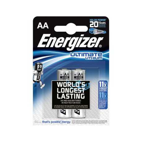2 piles AA LR6 Energizer ULTIMATE 1,5V Lithium