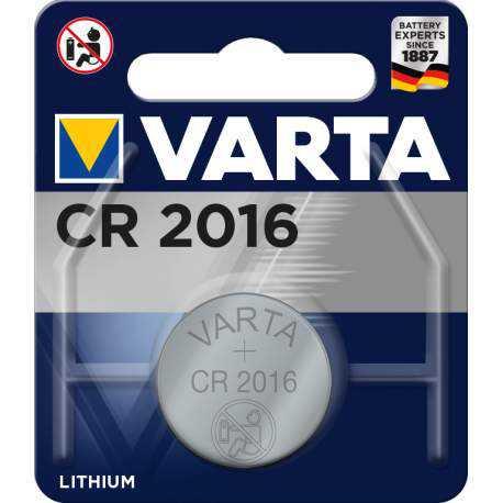 Pile bouton CR2016 Varta 3V Lithium