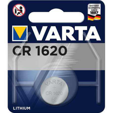 Pile bouton CR1620 Varta 3V Lithium