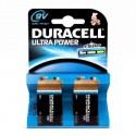 2 Piles 9V LR22 Alcaline DURACELL ULTRA POWER