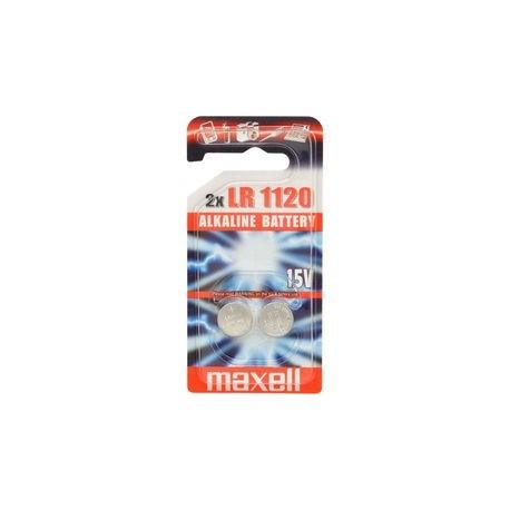 2 Piles bouton LR55 LR1120L 191 1,5V Alcaline MAXELL