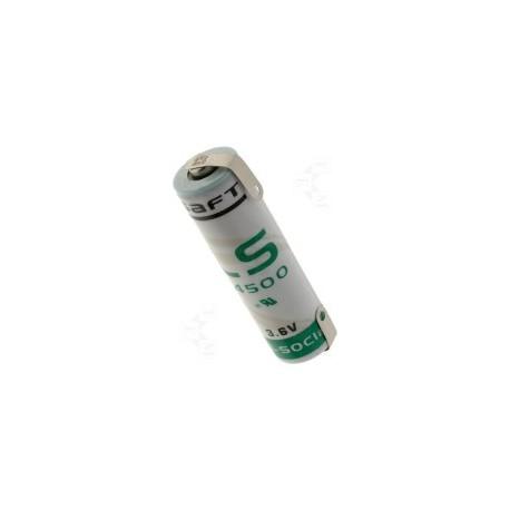 Pile LS14500CNR sortie languettes à souder 3,6V