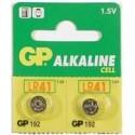 2 Piles bouton LR41 192 Alcaline