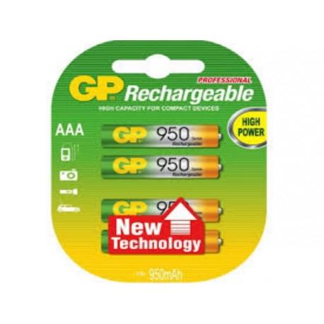 4 Accus AAA NiMH 950mAh GP