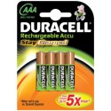 4 Accus AAA 800 DURACELL Stay Charged